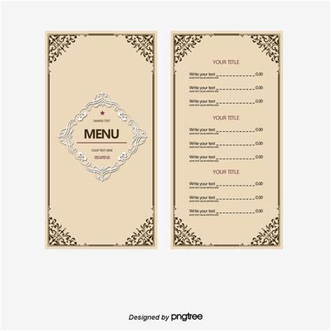 simple html menu template restaurante sencillo menu design vector simple restaurante