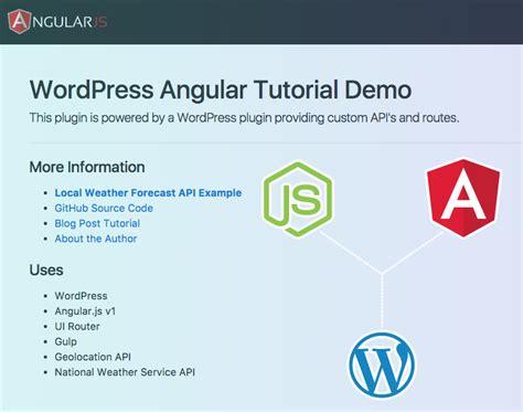 tutorial django angular building an angular js app in a wordpress plugin full