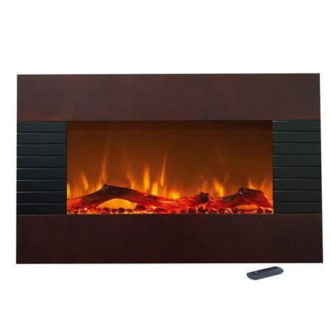 northwest 36 in electric fireplace with wall mount and