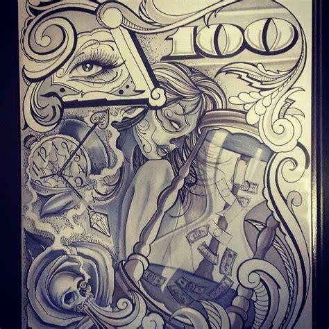 prison style tattoo designs chicano flash chicano