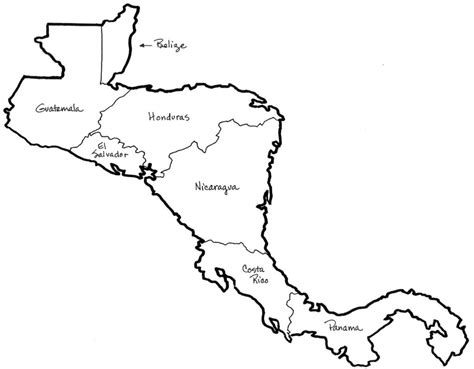 coloring page mexico map central america map coloring page google twit coloring