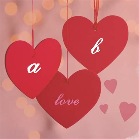 love couple alphabet  heart pictures