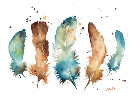 water color feather watercolor feathers pete