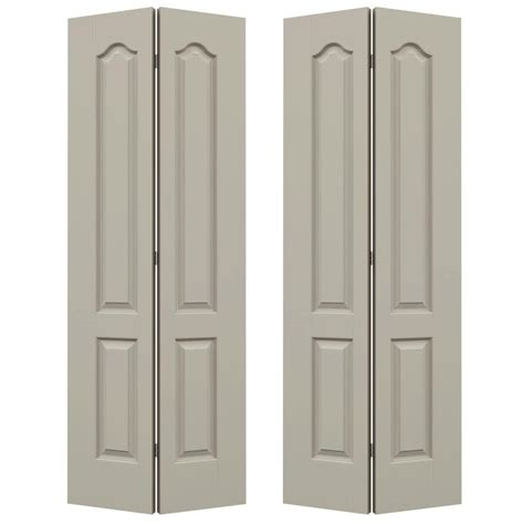 Panel Doors For Closets Jeld Wen 48 In X 80 In Woodgrain 6 Panel Hollow Molded Interior Closet Bi Fold Door