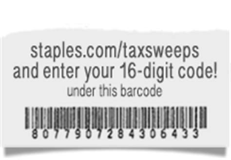 Staples Sweepstakes - staples tax reward sweepstakes 2017 staples com taxsweeps