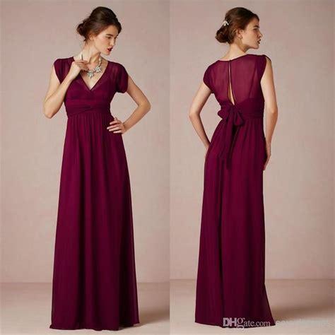 Yarin Maxi Fa cheap a line burgundy chiffon 2014 bridesmaid dresses with