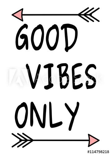 """""""good vibes only black white pink inspirational vector"""