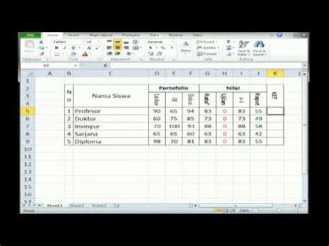tutorial belajar microsoft xl cara membuat rumus perhitungan excel lengkap doovi