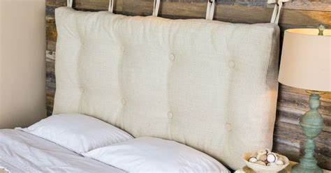 pin cushion headboard here s a rustic chic idea for your bedroom create a