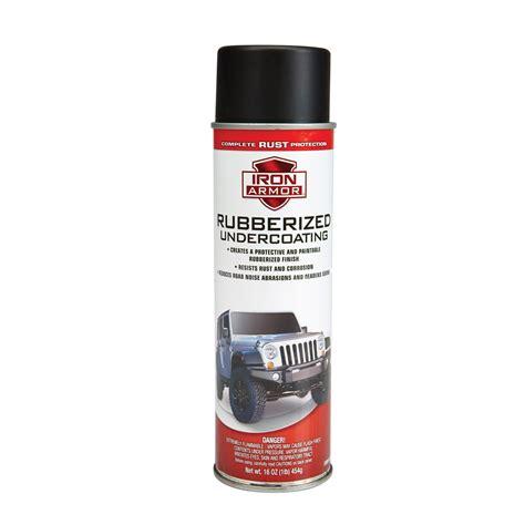 spray painting undercoat 16 oz iron armor 174 black rubberized undercoating spray paint