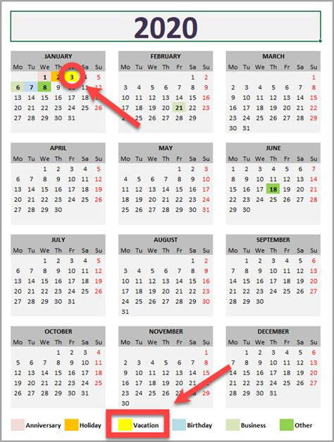 daily monthly yearly calendar template exceltemplatenet