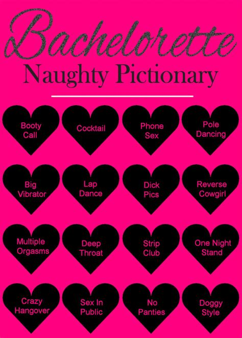 free printable naughty bridal shower games dirty pictionary bachelorette party games printable