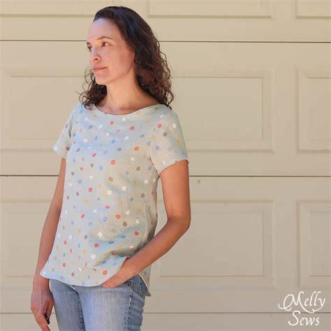 sewing patterns t shirts women s women s boat neck shirt tutorial melly sews