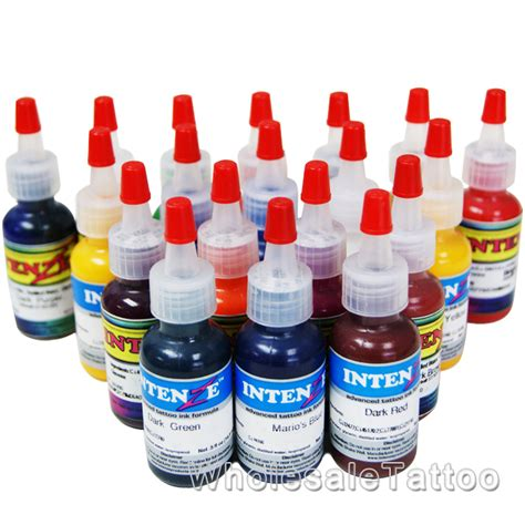tattoo ink wholesale 19 color intenze tattoo ink set 1 2oz