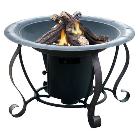 Shop Bond 27 95 In W 20 000 Btu Black Steel Propane Gas Bond Firepits