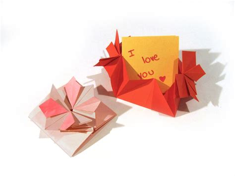 Origami Envelope Flower - origami s day flower card envelope with secret