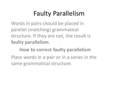 grammar faulty parallelism