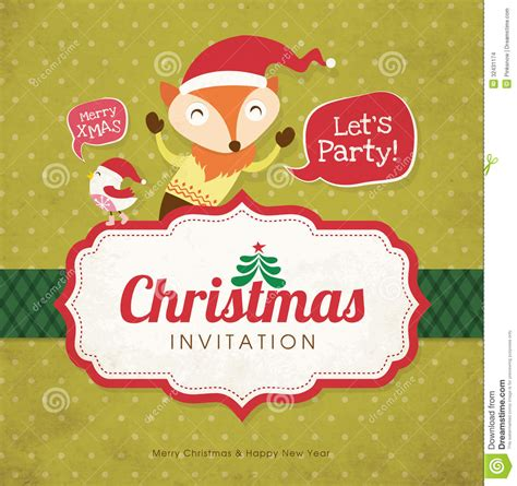 how to prepare invitation christmas card hd invitation card stock vector illustration of character 32431174