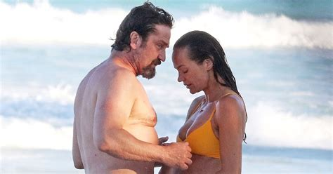 In Style Home Decor by Gerard Butler And Morgan Brown Photographed On Beach