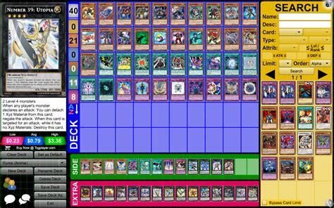 yugioh zexal decks yuma tsukumo anime character deck by almaster09 on