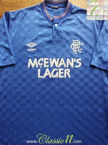 Glasgow Rangers Away 1987 1990 Jersey Original 35 best images about classic glasgow rangers football shirts on seasons home and