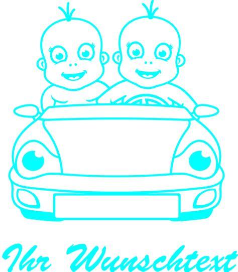 Autoaufkleber Baby Zwillinge by Baby Aufkleber Zwillinge Beschriftung Druck