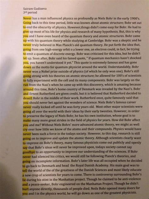 Of Giving Essay by Look Hilarious Secret Message In High School Student S Physics Essay Theblaze