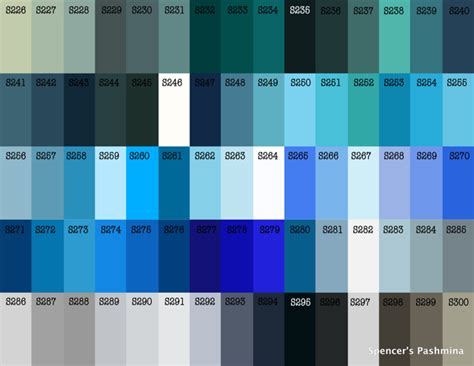 shades of blue chart blue old new borrowed blue