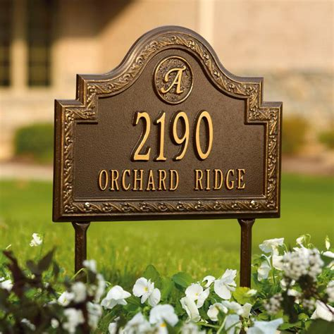 Address Plaques For Front Yard - stratford personalized address plaques frontgate