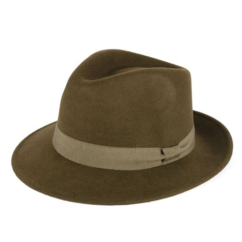 Hat Handmade - mens fedora hat 100 wool felt made in italy