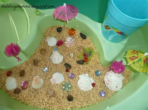 dabblingmomma theme sensory table