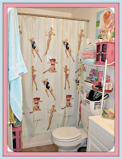 pin up shower curtains pin up bathroom decor supercute pinterest bathrooms