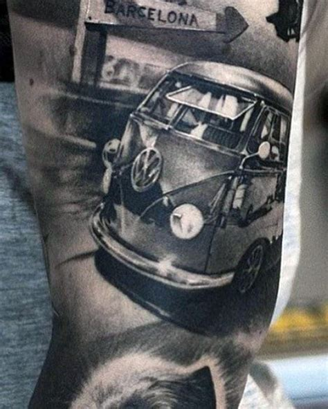 vw beetle tattoo designs 50 volkswagen vw tattoos for automotive design ideas