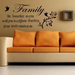 Sticker Wall Art Quotes Wall Quote Family Like A Branches On A Tree Wall Sticker
