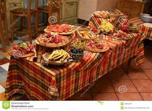 Buffet Table Decorations Ideas Table Layout Example Stock Photo Image 16852320