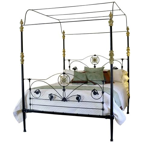 iron four poster bed cast iron four poster bed for sale at 1stdibs