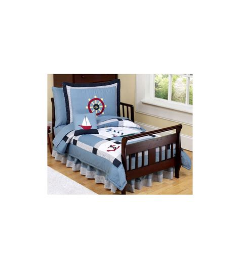 Sweet Jojo Designs Come Sail Away Toddler Bedding Set What Comes In A Bed Set