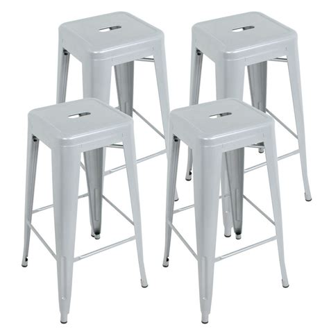 bar stools for high counter set of 4 modern industrial metal bar stools 30 quot seat