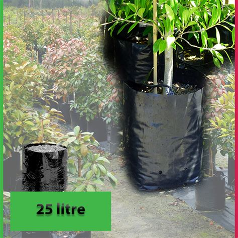 Planterbag 25 Liter Hitam 25 litre premium poly planter bags nursery and garden supplies australia