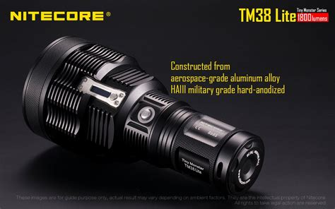 Nitecore Tm38 Lite Senter Led Cree Xhp35 Hi D4 1800 Lumens Nitecore Tm38 Lite 1800 Lumen 4 X 18750 Cree Xhp35 Hi D4 Led Flashlight Going Gear
