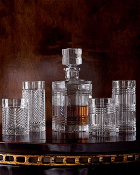 ralph lauren barware lauren by ralph lauren each glen plaid decanter traditional wine and bar tools
