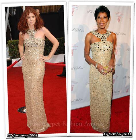 Who Wore It Better Carpet Style Awards by Who Wore Oscar De La Renta Better Debra Messing Or
