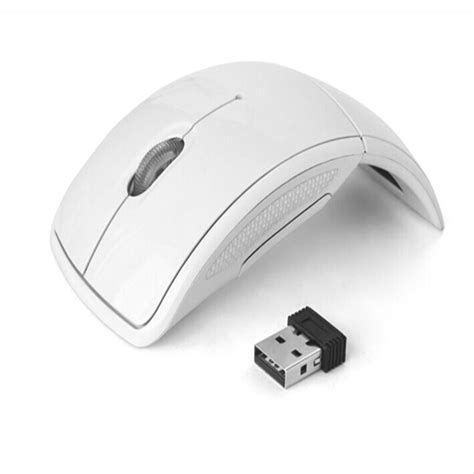 Wireless Mouse Arc Folding Usb 2 4ghz White wireless mouse 2 4ghz snap in transceiver optical gaming mouse foldable folding arc mice for pc