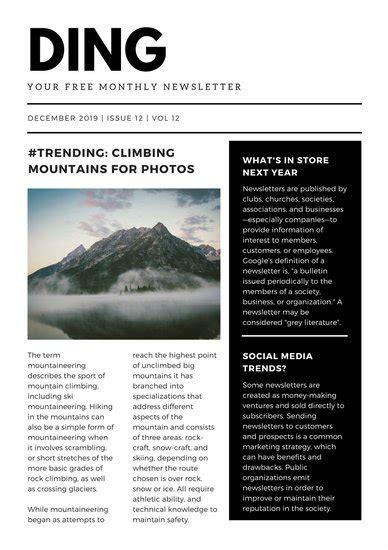 Customize 719 Newsletter Templates Online Canva Contemporary Newsletter Template