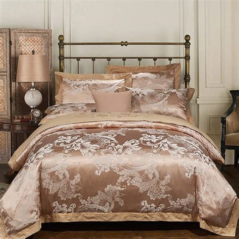 Bed Cover Wedding Import 7 luxury bedding sets embroidered wedding duvet cover set jacquard bedspreads satin sheets bed in