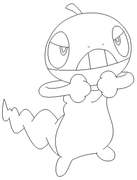 pokemon coloring pages scraggy scraggy base2 by skittychu bases on deviantart