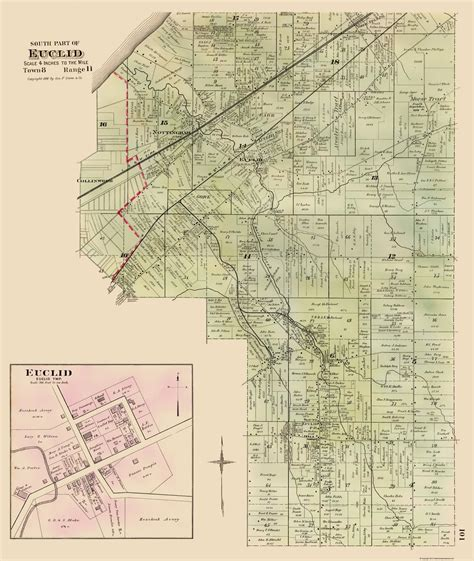 map of euclid ohio historic city maps southern euclid ohio oh city