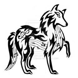 musical wolf tattoo by dansudragon on deviantart
