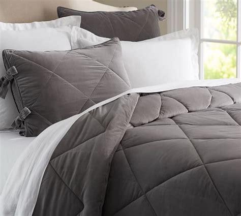 velvet comforter velvet comforter sham pottery barn