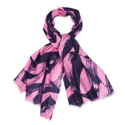 marimekko hula hula pink navy scarf marimekko scarves sale